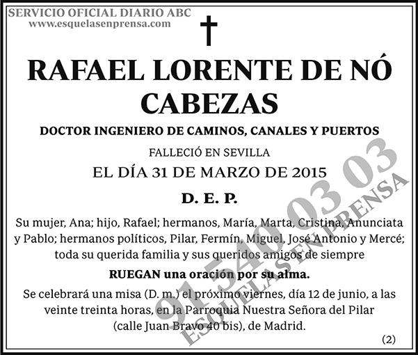 Rafael Lorente de Nó Cabezas